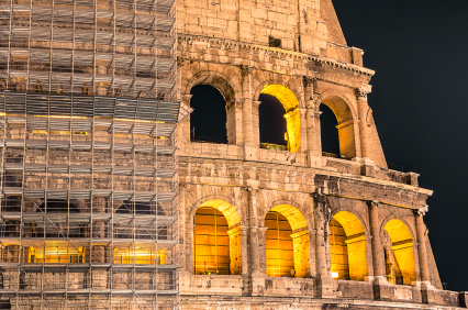 Colosseum by Night - Restoration Works